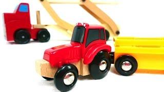 Магазин машинок - Трактор и автовоз - Играем в игрушечные машинки