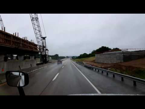 Bigrigtravels Live! Lawrence, Kansas Turnpike Westbound to Salina July 2, 2016