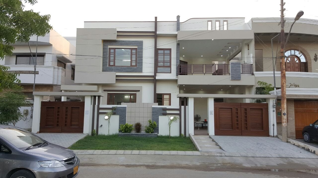 Front Yard Elevation : Malir cantt luxury environment karachi youtube