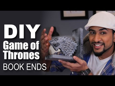 Mad Stuff With Rob - How To Make Game Of Thrones Book Ends   DIY Craft
