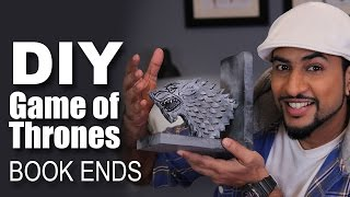 Mad Stuff With Rob - How To Make Game Of Thrones Book Ends | DIY Craft