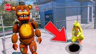 WITHERED FREDDY & CHICA BREAK OUT OF MAXIMUM PRISON! (GTA 5 Mods For Kids FNAF Funny Moments)