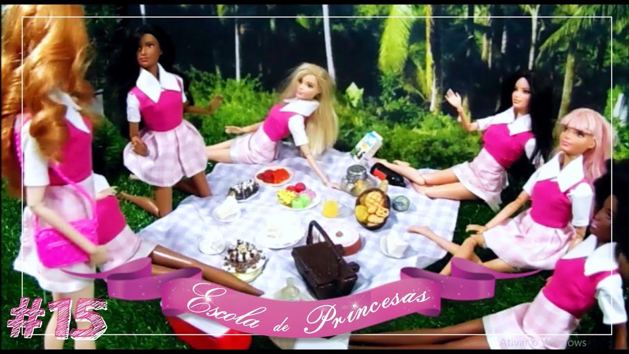 #15 NOVELA DA BARBIE - 12 Princesas e 1 Segredo - Piquenique Desastroso...