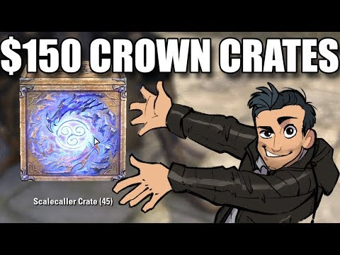 ESO - OPENING $150 OF CROWN CRATES (and then killing everybody) - Elder Scrolls Online