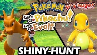 Shiny Glumanda hunt 😍  Let's Go Pikachu & Pokémon Let's Go Evoli