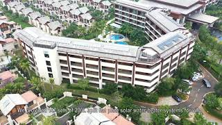 Linuo Paradigma solar hot water system for WYNDHAM hotels