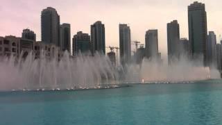 Dubai Fountain Show! Arabic music!