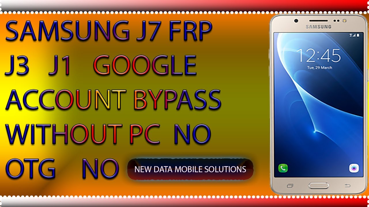 Google Account Frp Bypass Without PC Samsung 7 0 Nougat,
