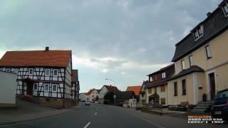 D: Angersbach. Gemeinde Wartenberg. Vogelsbergkreis. Ortsdurchfahrt. August 2016