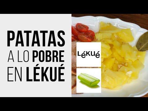 Patatas a lo Pobre en LÉKUÉ Estuche de Vapor al Microondas [Receta fácil y rápida]