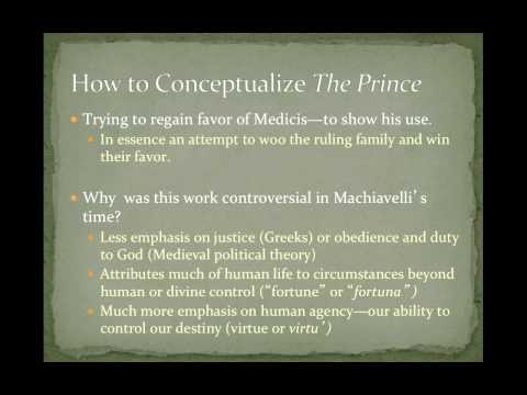 POS 201: Lecture 5-Machiavelli and the Dawn of Political Theory