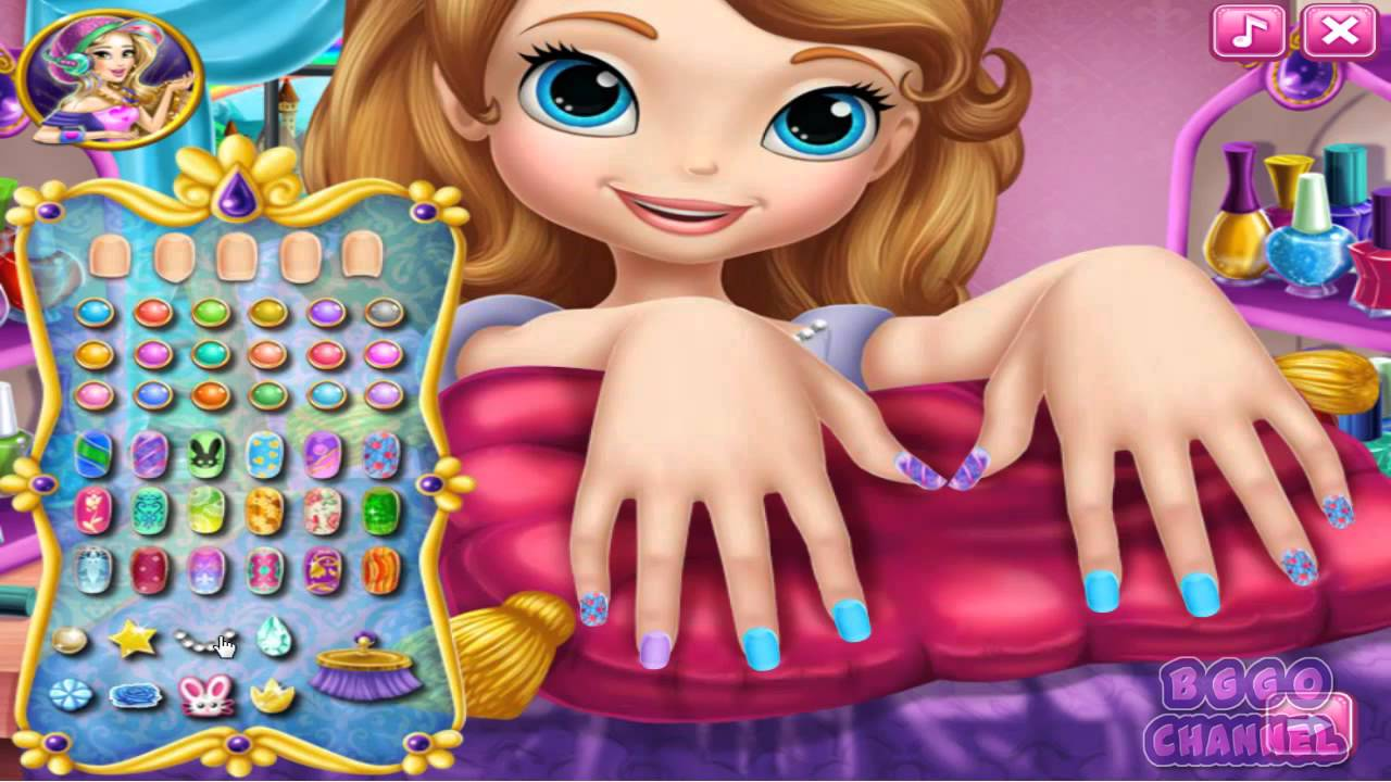 Sofia The First Nail Spa Nails Design For S
