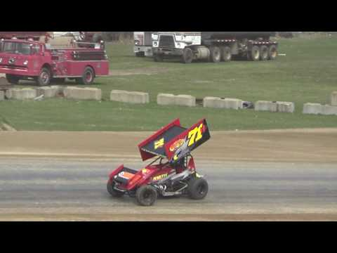 31. Sprints at Crystal Motor Speedway Test and Tune, 04-09-17