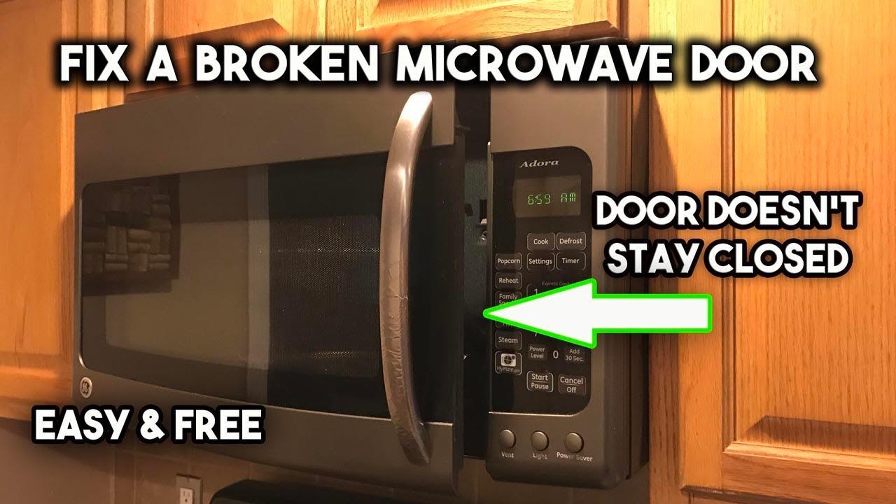 repair a broken microwave door latch
