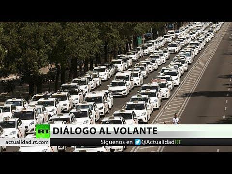 España: continua la huelga indefinida de taxistas tras reunirse con el Ministerio de Fomento