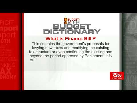 Budget Dictionary: What is Finance Bill?