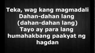 Repeat youtube video Hagdan - Ron Henley  Ft. Kat agarrdo (lyrics)