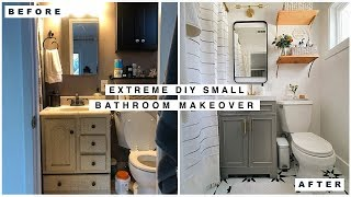 Extreme Small Bathroom Makeover!!