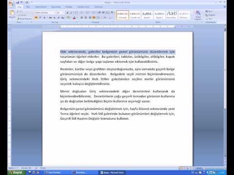 6 Giriş Menüsü   Paragraf Araç Çubuğu   Satır Hizalama   Satır Aralığı   Paragraf Rengi Ve Kenarl