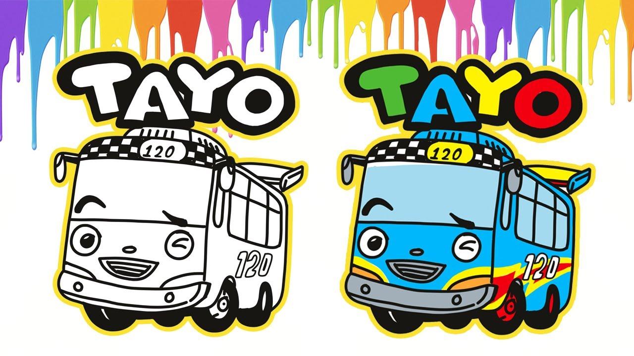 Gambar Bus Tayo Menggambar Dan Mewarnai Bus Hey Tayo Youtube