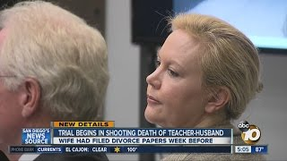 Trial begins for woman accused of murdering teacher-husband