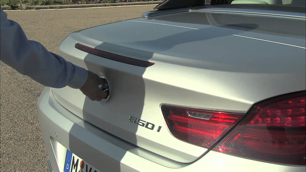 New 2012 BMW 6 Series Convertible Trunk Space