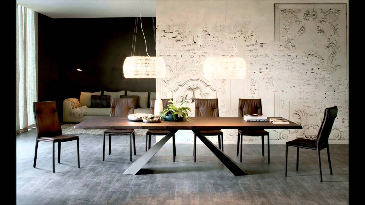 Mesa comedor eliot wood cattelan italia youtube for Comedor wood trendy