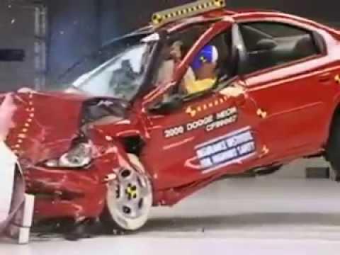 360 2003 2005 Dodge Srt 4 Moderate Overlap Crash Test Youtube