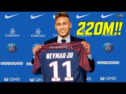 NEYMAR TO PSG?!? 220M!!! BIGGEST TRANSFERS CONFIRMED 2017 Ft. Neymar, James Rodriguez, Lacazette