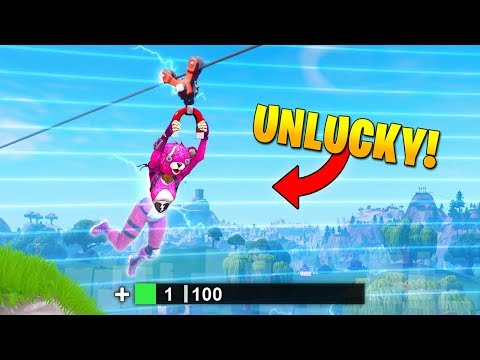 UNLUCKIEST ZIPLINE EVER! - Fortnite Fails & Epic Wins #44 (Fortnite Funny Moments)