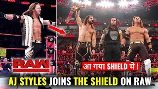 Aj Styles JOINS The Shield On Raw ! Superstar Shakeup 2019 Results WWE Raw 15 April 2019 Highlights