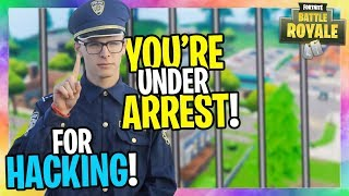 I called the POLICE for KIDS HACKING in Fortnite... (GONE WRONG!)