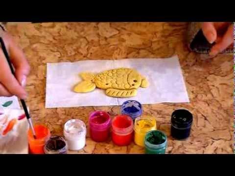"""Занятие 4. """"Золотая рыбка"""" из соленого теста."""