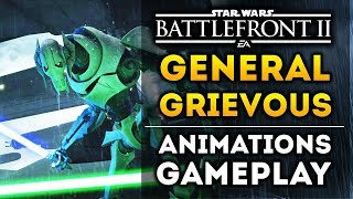 Official General Grievous Animations in Star Wars Battlefront 2! New Lightsaber Combat Gameplay!