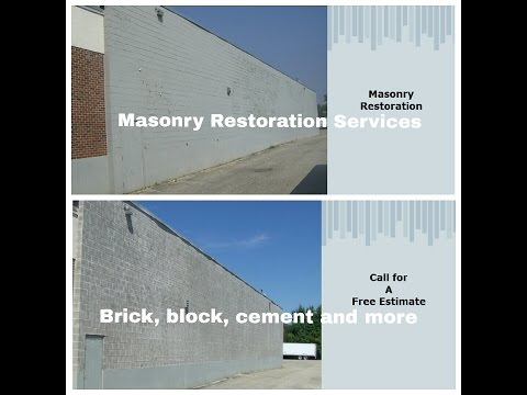 Masonry Paint Removal. Brick, block, cement and more. RI Painting Contractor restoration services