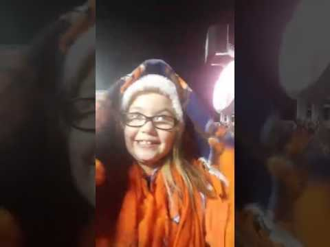 Kirsten live during half time at the broncos/chiefs game