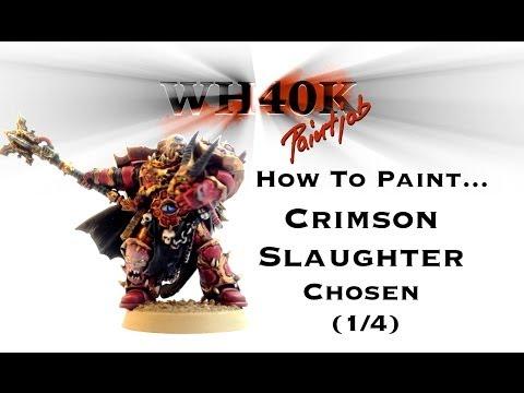 How To Paint A Crimson Slaughter Chosen - 1/4 - WH40KPaintJob