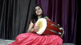 आसान तरीके से ढोलक बजाना सीखे।हिन्दी में।part-1 by uma shukla