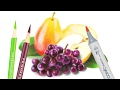 How to make colored pencil drawings better with markers.