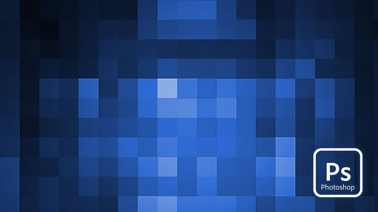 Adobe Photoshop  Pixelated Background Tutorial  YouTube