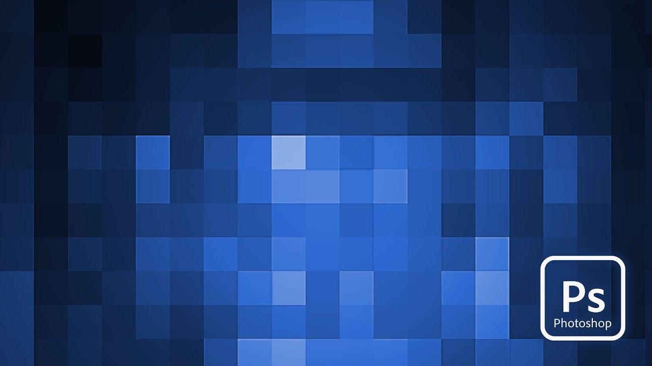 Adobe Photoshop | Pixelated Background Tutorial - YouTube
