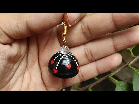 How To Make Quilling Jhumka|Valentine's Day|Using Quilling Paper Earring|Beautiful Heart Design|Gift