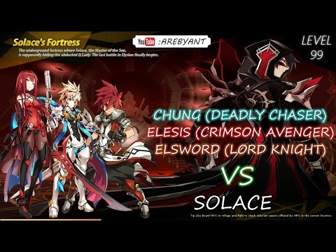 [Elsword] Elesis Level 99 Party Play VS Solace X40 Damage [Crimson Avenger]