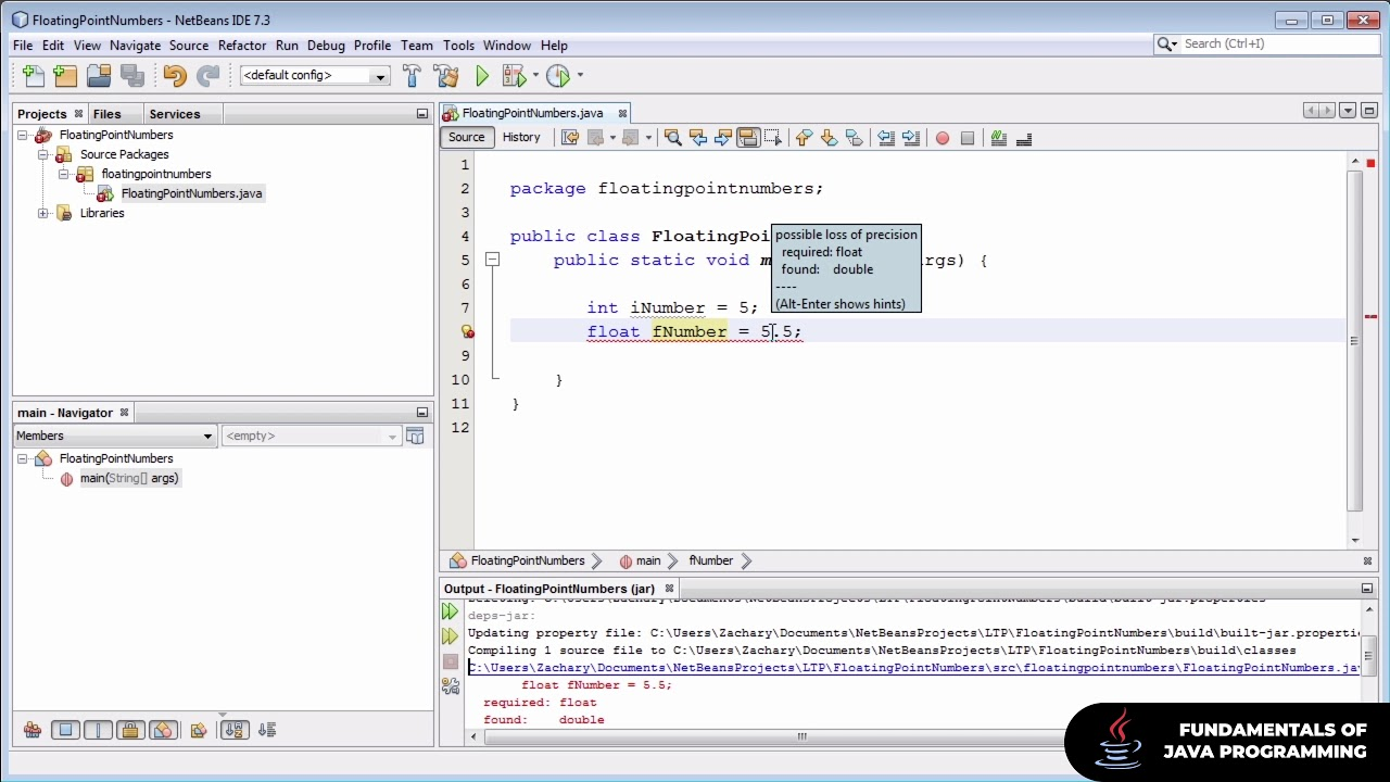 Floating Point Numbers   The Fundamentals of Java