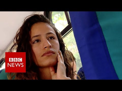 A bus ride through crisis-hit Caracas - BBC News