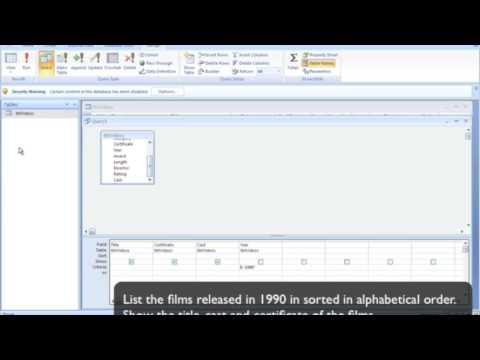 Database Queries 1 - Database Query Tutorial