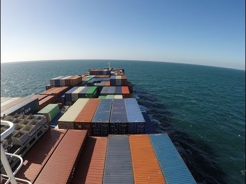 Transatlantic travel on container ship Germany-USA