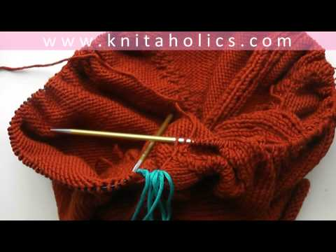 Knit with eliZZZa * Raglan Sweater Top Down * Video #01... Doovi