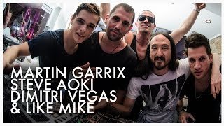 Steve Aoki, Martin Garrix, Dimitri Vegas and Like Mike at Café Mambo Ibiza June 2014