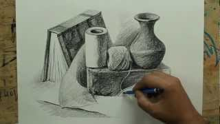 still life with pencil by artist sikander singh m4v